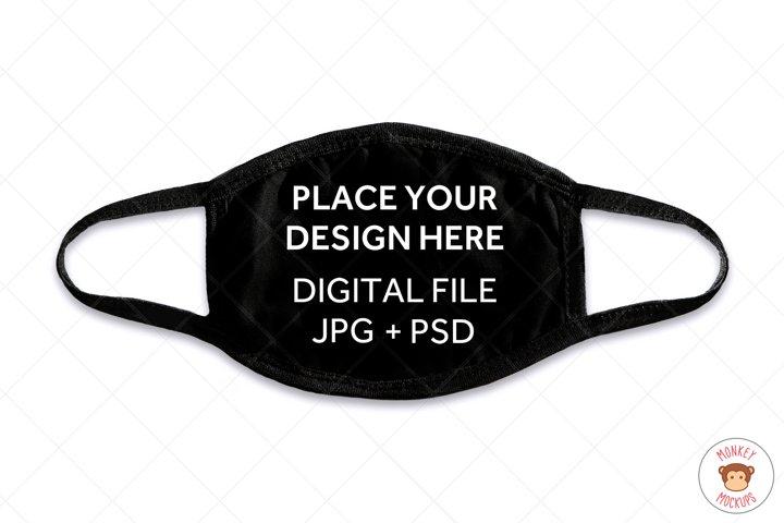 Face Mask Mockup, Black Mask Mock up in JPG and PSD