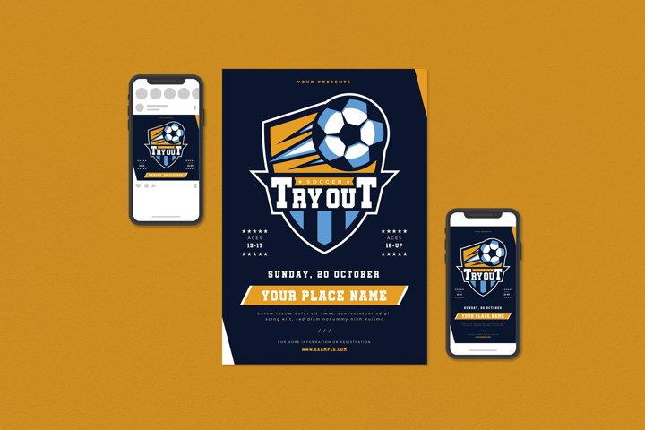 Soccer Tryout Flyer