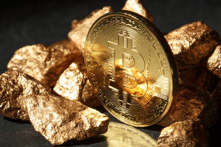 Golden Bitcoin Coin JPG set example 8