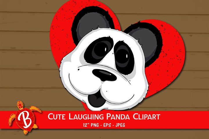 Laughing Panda Sublimation Design for T Shirts