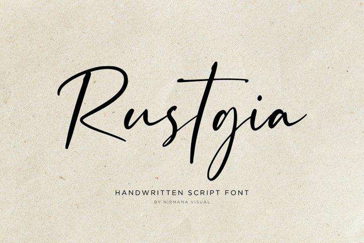 Rustgia - Handwritten Script