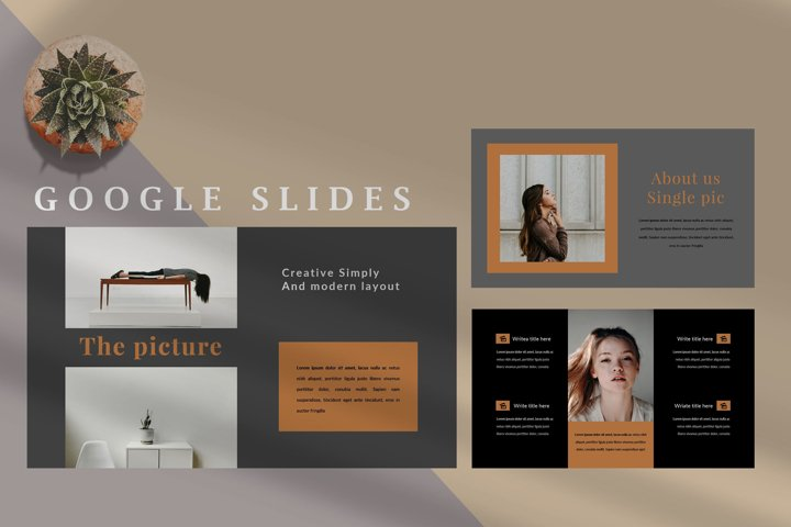 Servamps Dark Minimal - Fashion Google Slides