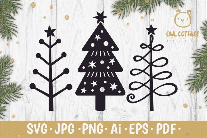 Christmas Trees SVG, Xmas trees svg set, Scandinavian style