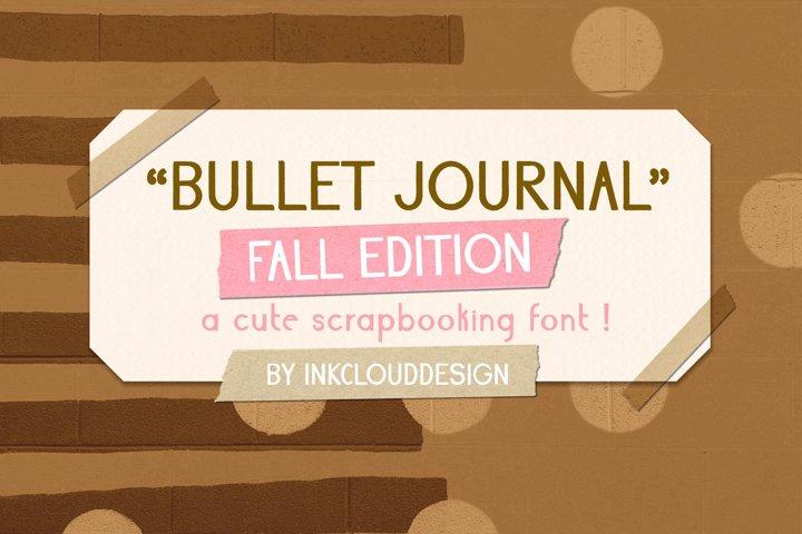 Fall Script Bullet Journal Font | Autumn Planner Scrapbook