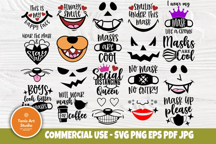 Kids Face Masks Svg Bundle Svg Quotes Cut Files For Cricut 883553 Cut Files Design Bundles