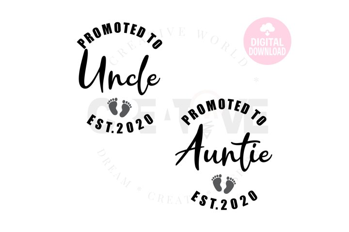 Promoted to Uncle 2020 svg   Promoted to Auntie 2020 svg