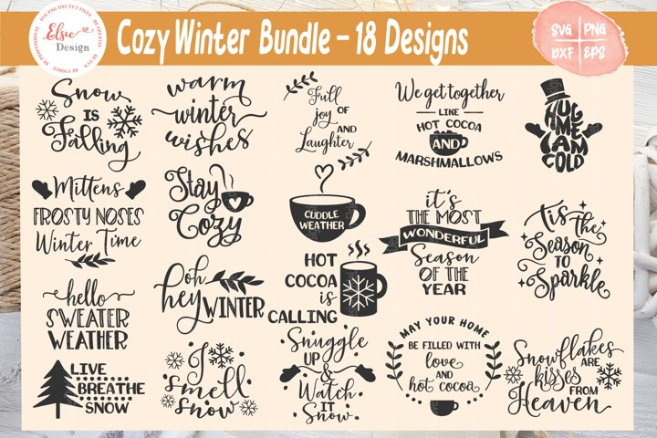 Cozy Winter/ Christmas SVG Cut Files