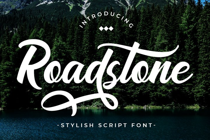 Road Stone - Apparel Style Font