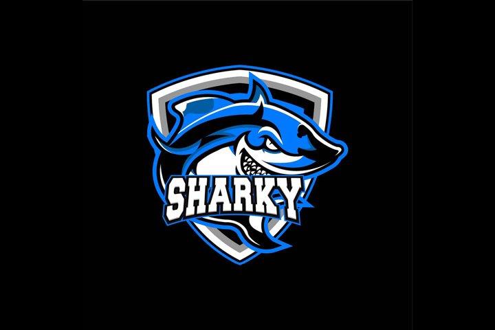 Shark Logo E-sport Mascot