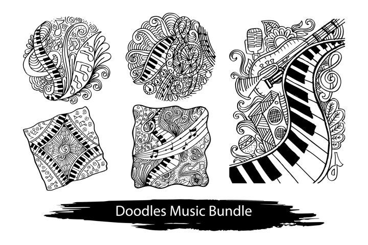Doodles set of music