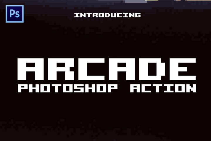 Arcade 8-bit Pixel Photoshop Action