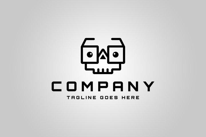 Skull Geek Logo Template