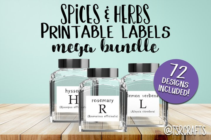 Pantry Labels - Spices and Herbs Mega Label Bundle