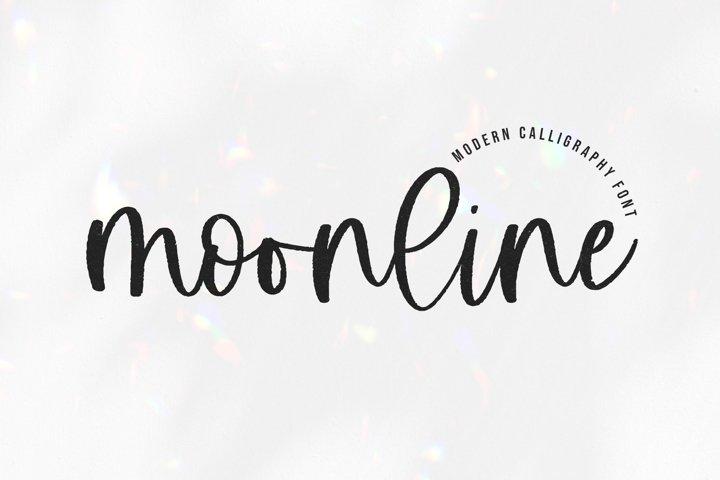 Moonline - A Handwritten Script Font