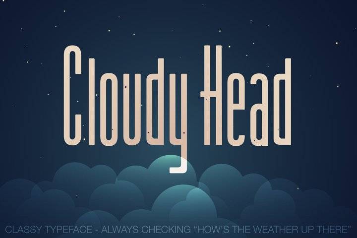 Cloudy Head Regular - Tall Font, Classy Typeface