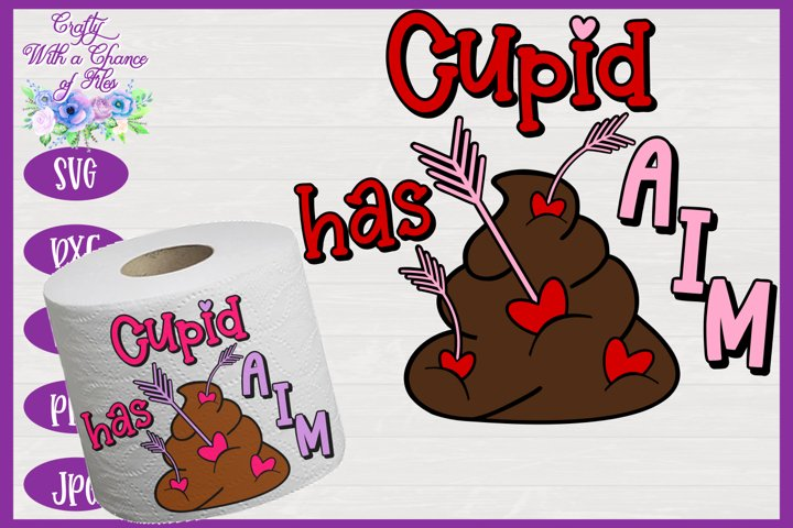 Valentines Day Toilet Paper SVG, Valentine SVG, Cupid SVG