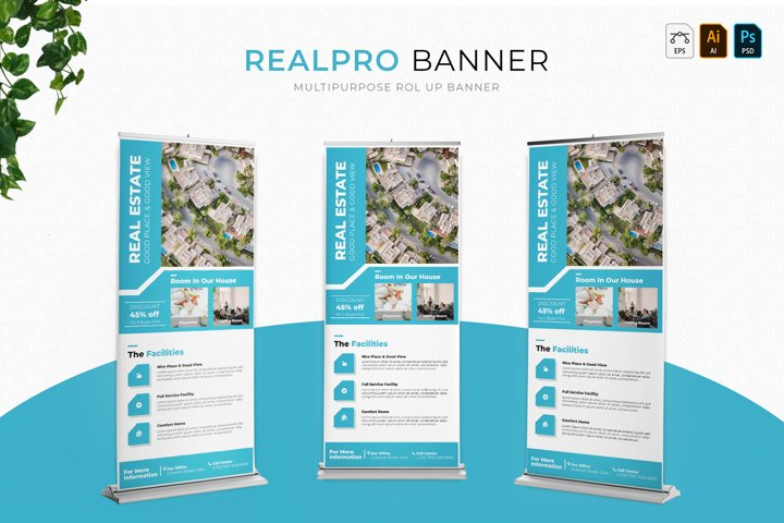 Real Pro   Roll Up Banner