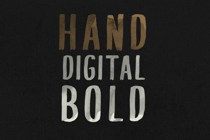 PQRS Handpainted Bold Font