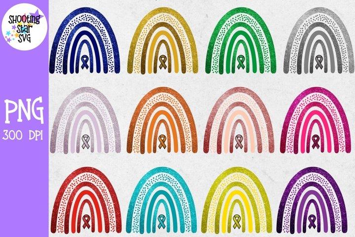 Boho Glitter Rainbow Sublimation - Awareness Rainbow Bundle