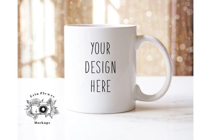 11oz White Coffee Mug Mockup | JPEG Format
