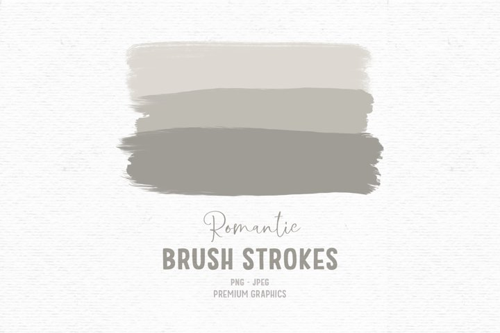 Hand-drawn brush stroke clipart, paint clipart, beige