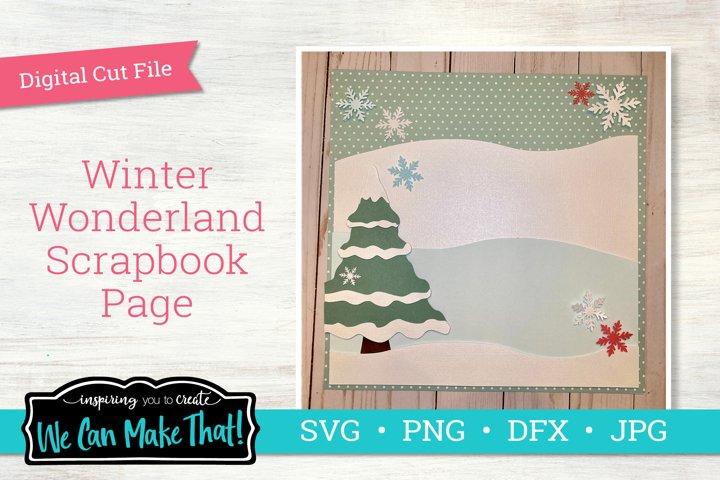 Winter Wonderland Scrapbook Page SVG