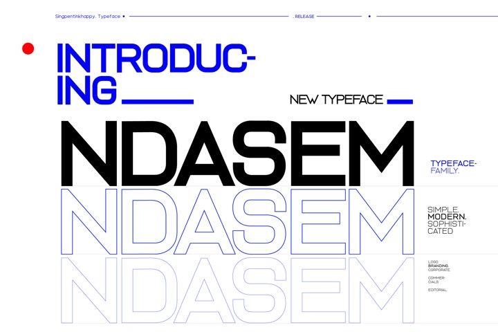 Ndasem Typeface