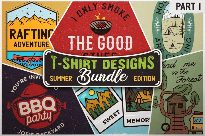 Vintage T-Shirt Bundle SVG Retro Designs Summer Collection