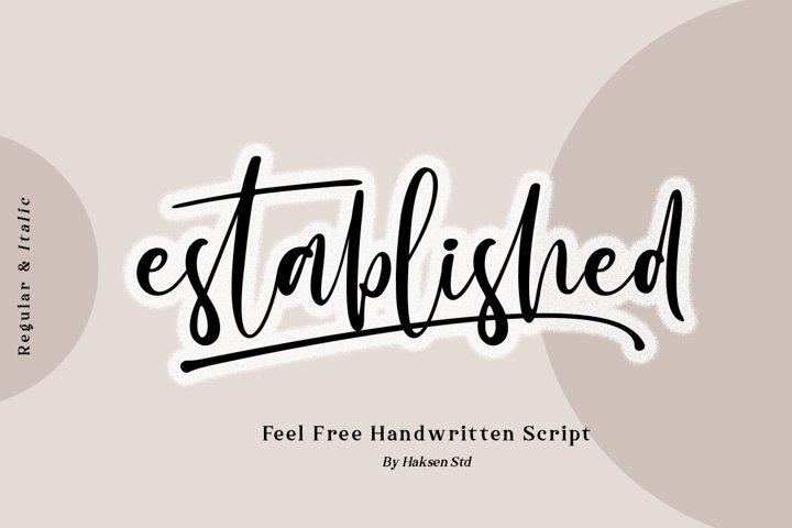 Established the Beauty Handwritten Script