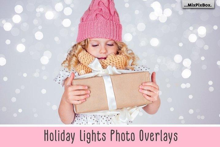 Holiday Lights Photo Overlays