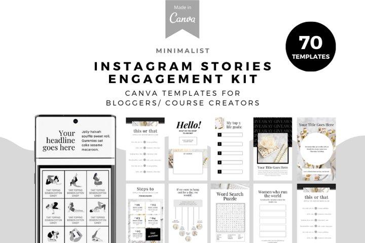 Minimalist Instagram Story template CANVA Template