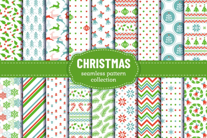 Christmas Digital Paper - Seamless Patterns