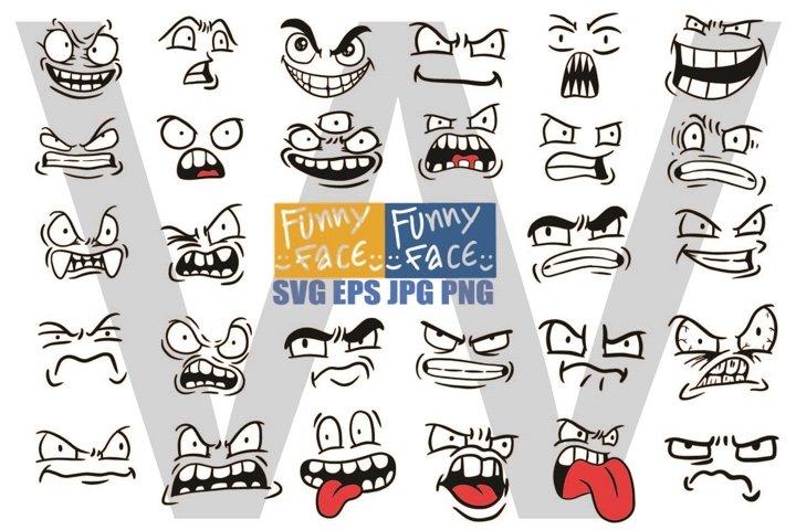 Various Emotional Face - SVG EPS JPG PNG