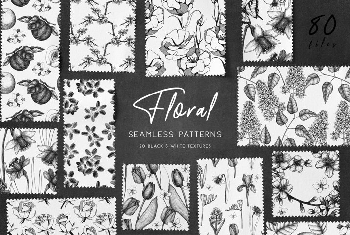 Floral Patterns Bundle