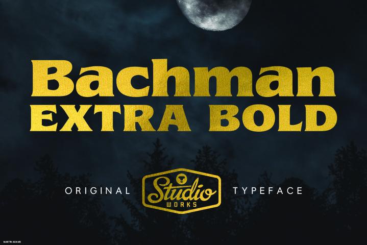 Bachman | Dark Display Type!