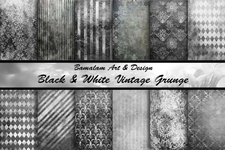 Black & White Vintage Grunge Backgrounds