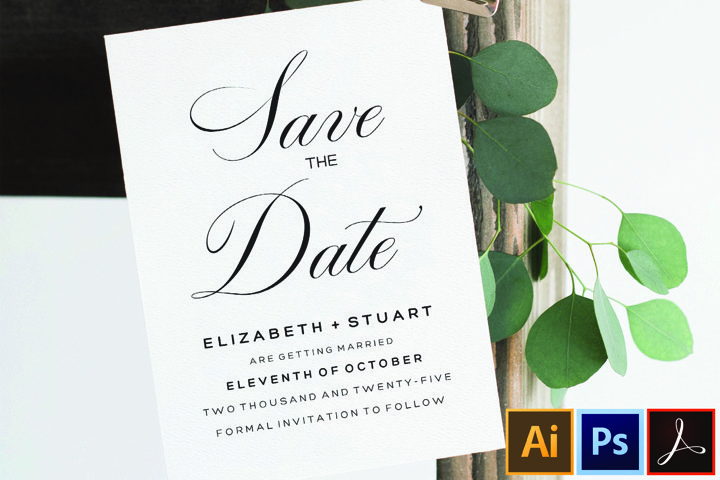 Editable Save The Date Template, Printable Save The Dates
