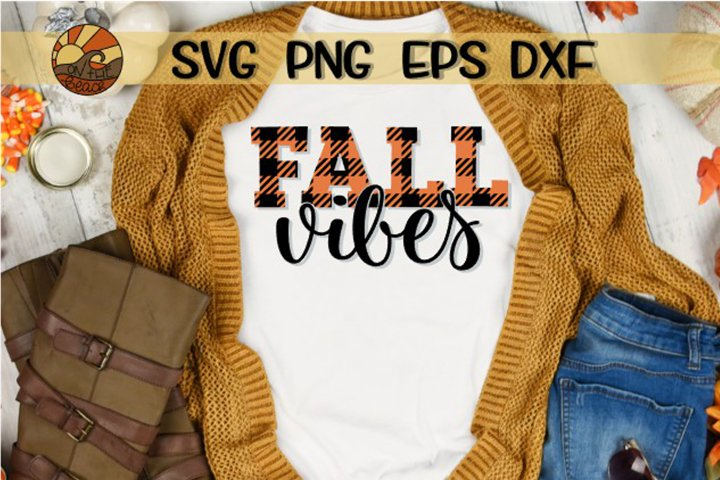 Fall Vibes - Buffalo Plaid - SVG DXG PNG EPS example