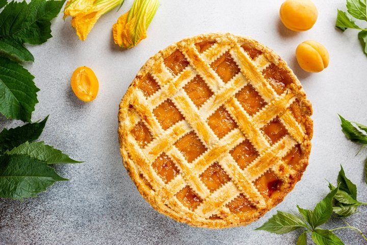 Photo of homemade apricot or peach pie