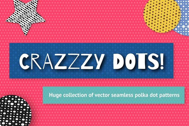 100 seamless polka dots pattern set