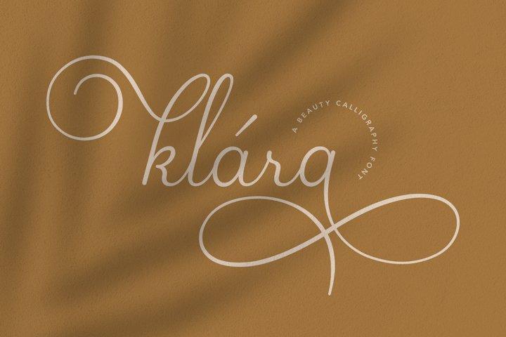 Klara | Beauty Calligraphy Font
