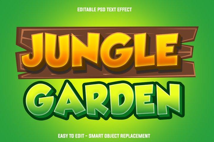 jungle garden text effect