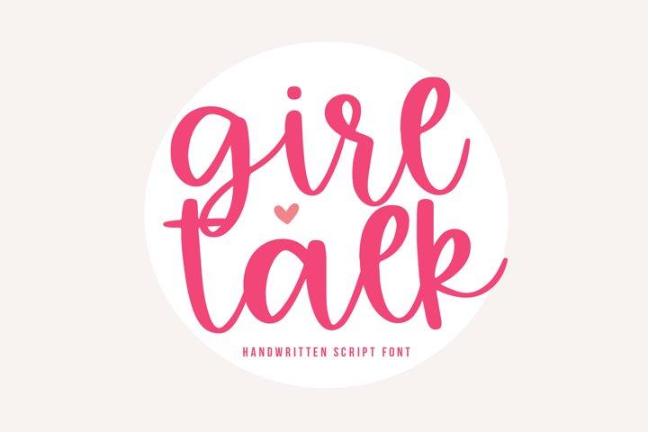 Girl Talk - A Handwritten Script Font