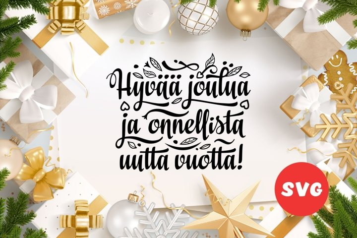 Finnish Christmas svg in Finland