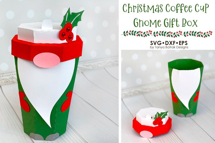 Christmas Gnome Coffee Cup Box