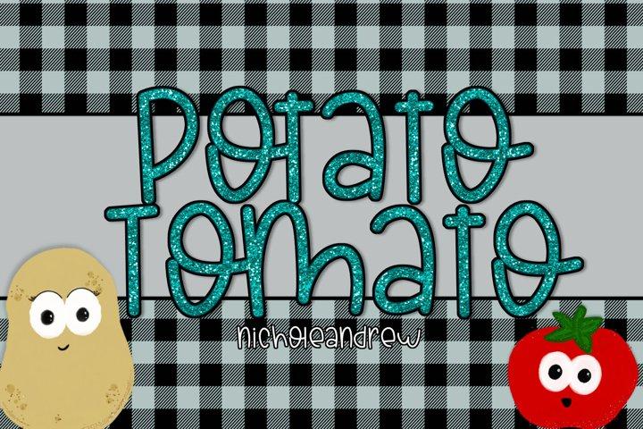 Potato Tomato - A Cute Handwritten Font