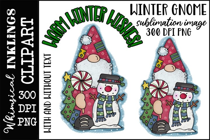 Winter Gnome Sublimation Clipart