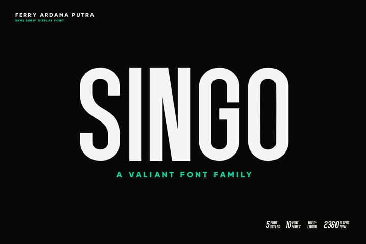 Singo - Sans Display Font