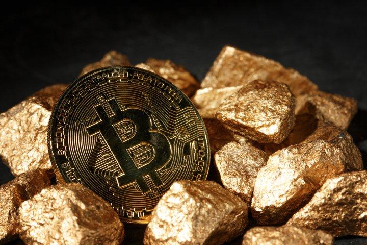Golden Bitcoin Coin JPG set example 9