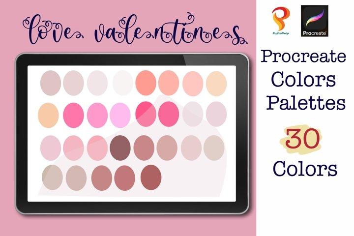 Love Valentine Procreate Color Palette